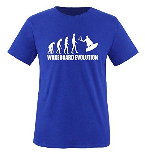 WAKEBOARD EVOLUTION -Herren T-Shirt in Royalblau/Weiss Gr. L