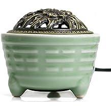 Control de Temperatura de Tiempo Quemador de Incienso eléctrico de cerámica, Horno de aromaterapia de