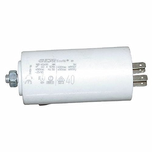 Starterkondensator 25µF, Ø:45mm, Lä: 71mm Anlaufkondensator Betriebskondensator Motorkondensator