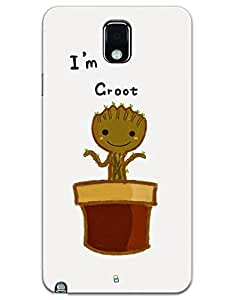 Samsung Galaxy Note 3 Cases & Covers - I'm Groot Case by myPhoneMate - Designer Printed Hard Matte Case - Protects from Scratch and Bumps & Drops.