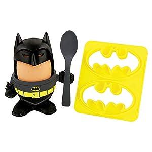 Paladone Batman   Incluye Huevera, Topper, Cuchara, Cortador de Tostadas, Producto Oficial de DC Comics, Multicolor, 6 x 20 x 14 cm (PP4431DC)