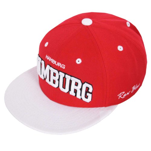 Raw Blue Cityline Hamburg Snapback Cap in Red / White