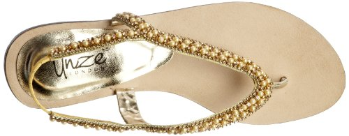 Unze Evening Sandals, Damen Sandalen Gold (L18352W)