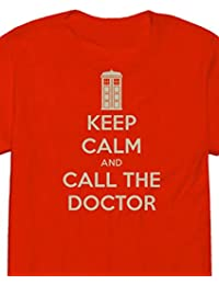 KEEP CALM AND CALL THE DOCTOR- Classic Sci-fi Cult TV series inspired Men's T-Shirt