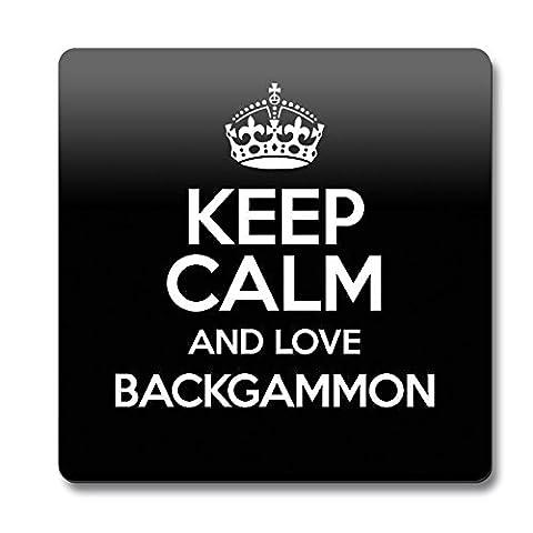 Couleur: Noir Motif Keep Calm And Love Backgammon 0779