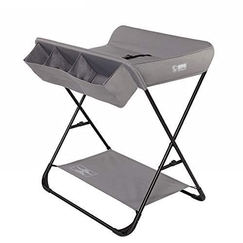 Table à Langer Portable Table De Soins De Massage pour Nouveau-né Station De Couches Intégrée Pliable, Style Croisé (Couleur : Gray)