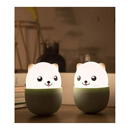 FXQ LED Doggy Nacht Lichtwelpe Silikon-Tea-Cup Hund Nachtlicht USB-Ladelampe Nachtfütterung Lampe Nachtbeleuchtung Hund Cup