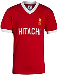 Liverpool FC Cotton Red Mens Retro Hitachi Home Football Shirt Jersey NWT Available Sizes S,M,L,XL,XXL From LFC Official Store