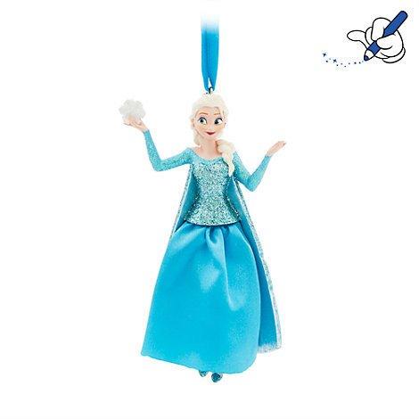 Unbekannt ELSA Hängeornament, Frozen, offizielles Disney-Weihnachts-Ornament (Beauty Beast Chip Kostüm)