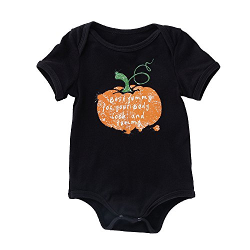 Cuteelf Halloween Kostüm Neugeborenes Baby Mädchen Jungen Kürbis Print Strampler Jacke Kleidung Baby Kurzarm Halloween Katze Kürbis Roben Strampler lässig Outdoor Kürbis Print
