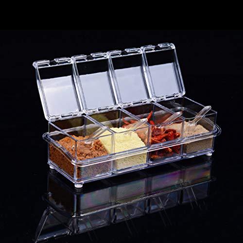 Lorsoul 4 1 Transparente Tarro Especia Cocina Cajas
