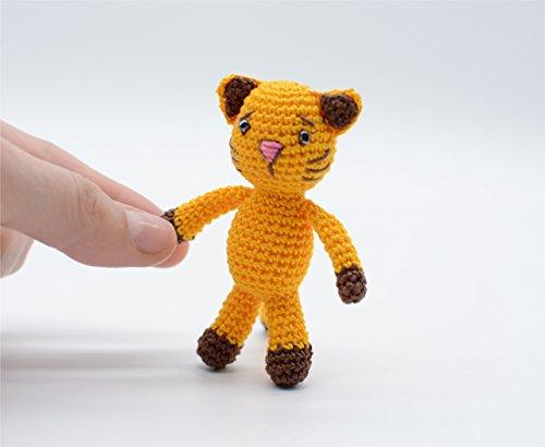 Gelbe Katze Spielzeug, liebevolle Kitty, häkeln Amigurumi Schlüsselanhänger, das richtige Geschenk