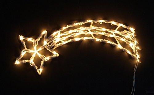Fensterbild beleuchtet 50cm mit 50 LED, Motiv Sternschnuppe, mit Saugnapf