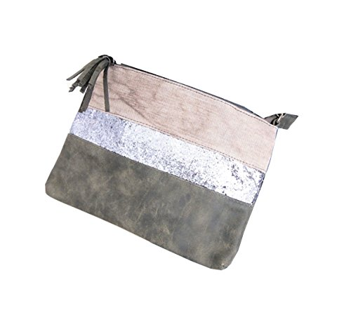 damen-clutch-wristlet-pochette-bag-tasche-cross-over-glitzer-glam-8324-grau-khaki