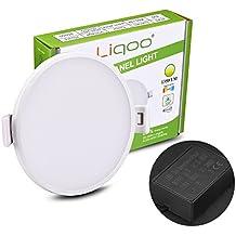 Liqoo® 18W LED Panel Luz de Techo Lámpara Empotrable Downlight Ultra delegada Transformador Incluido Redondo Blanco Cálido 3000K Ángulo de visión 120 ° 1350LM
