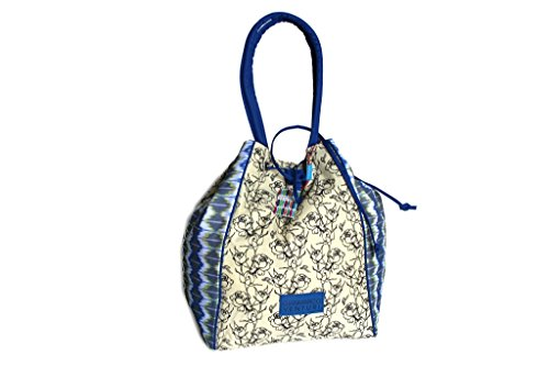 Borsa mare Gian Marco Venturi secchiello a spalla l.Ikat 15111 blu moda mare
