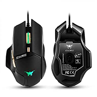 Asiawill 3800 DPI Wired Professional Design LED Optical USB Gaming Mouse 6 Key Custom Game Mouse