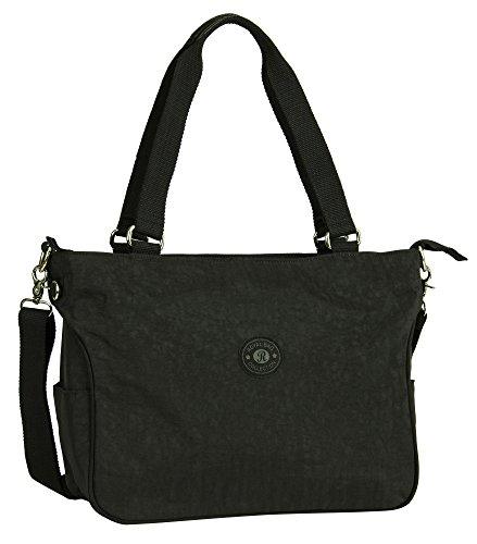 Big Handbag Shop , Damen Henkeltasche Design 1 - Black