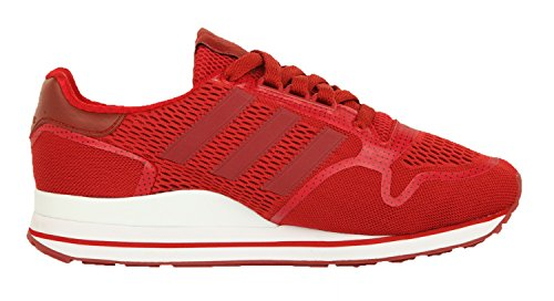 adidas Zx 500 Techfit, Low-Top Sneaker homme Rouge