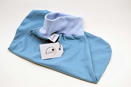 Strampelsack aus Bio-Baumwolle, für Frühchen 44 48 und kleine Babys, Schlafsack zum Pucken, für Wiege, Bett und Kinderwagen, blau, hellblau