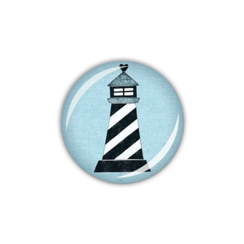 lijelove Buttons, 04-00OM, Ahoi! Leuchtturm, blau, 25 mm -