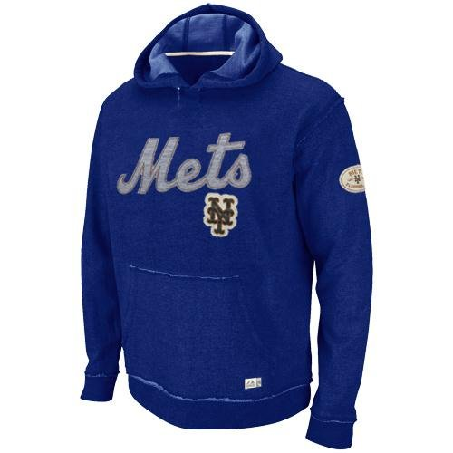 MLB Baseball Hoody/Hoodie/Kaputzenpullover Sweater NEW YORK NY METS Home Stretch in S (SMALL) (Majestic Stretch Pullover)