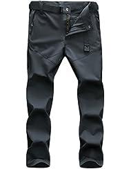 Zhhlinyuan De alta calidad Men's Waterproof Outdoor Climbing Hiking Trousers Quick Drying Stretch Pants