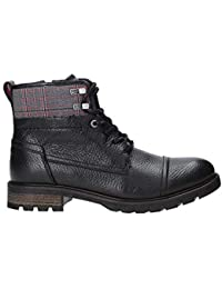 Tommy Hilfiger Herren Winter Leather Textile Mix Boot Klassische Stiefel
