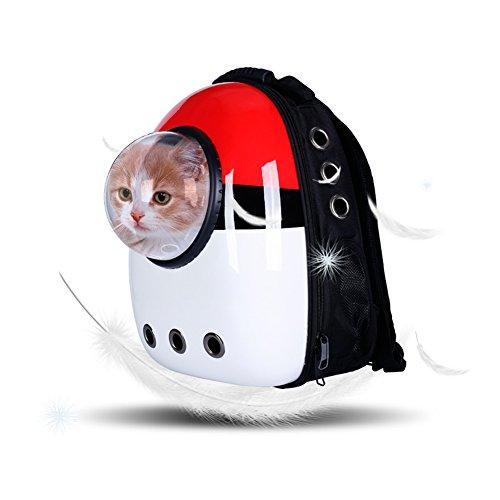 JHZH Haustier Rucksack, Astronauten-Raum-Kapsel-Haustier-Rucksack Weichbreathable Reise Katze...