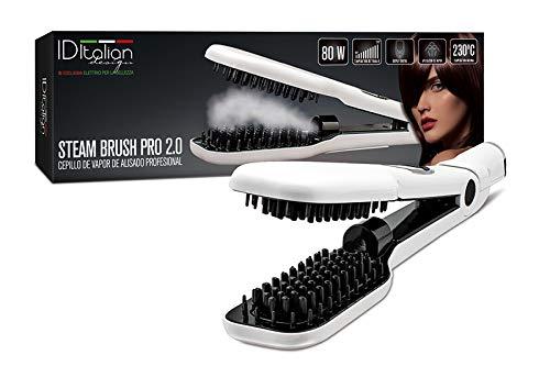 ID Italian Design | Cepillo Alisador Steam Brush Pro 2.0 de Color Blanco - 80W