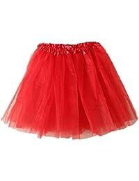 bf3e64976ced MRULIC Damen Mädchen Kurz Tüllrock TüTü Minirock Reifrock Unterrock Kleid  Organza Pettiskirt Petticoat Dehnbaren…