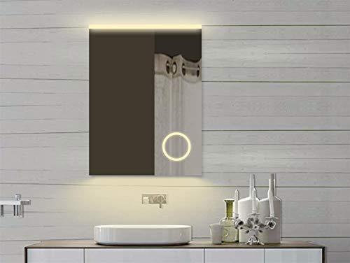 Lux aqua specchio da bagno con specchio cosmetico e led luce in
