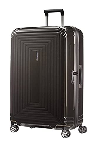 Samsonite Neopulse Suitcase 4 Wheel Spinner 75cm Large Metallic Black