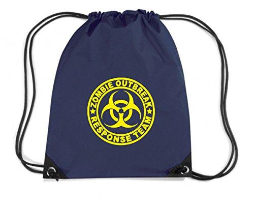 Cotton Island - Zaino Zainetto Budget Gymsac TZOM0027 zombie outbreak response team tshirt, Taglia Capacita 11 litri