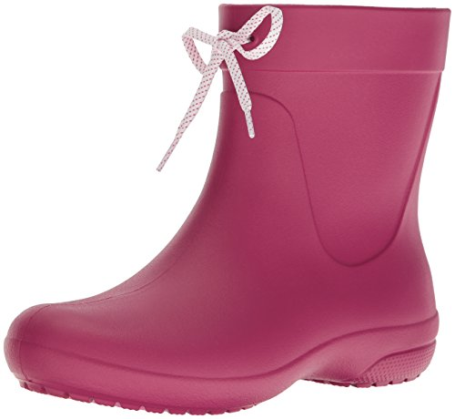 crocs Freesail Shorty Rain Boots, Damen Gummistiefel, Pink (Berry), 41-42 EU