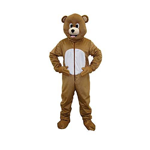 Dress up america 593 - costume per travestimento da orso bruno, unisex adulto, colore: marrone