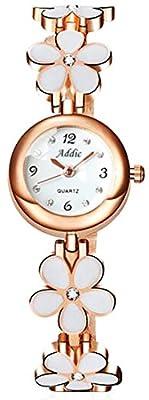 Addic Analogue Round White Dial Girl's & Women's Watch (Addicww467A)