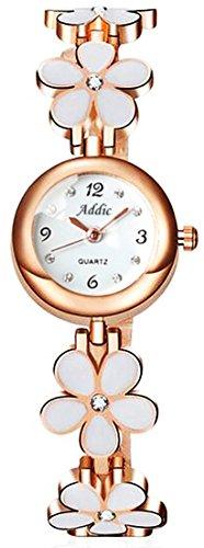 Addic Analogue White Dial Girl's & Women's Watch (Addicww467A)