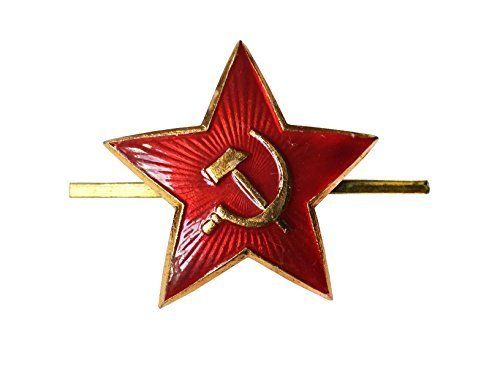 5079f282119 Soviet USSR Russian Army Military Large Red Star Pilotka Hat Cap Beret Pin  Badge by USSR