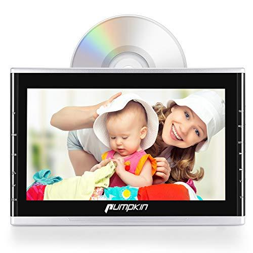 Pumpkin Lettore DVD auto poggiatesta con supporto, schermo da 10,1 pollici, supporta multiformati video di 1080P/ HDMI/ USB/ SD/ FM/ IR/ cavo AUX