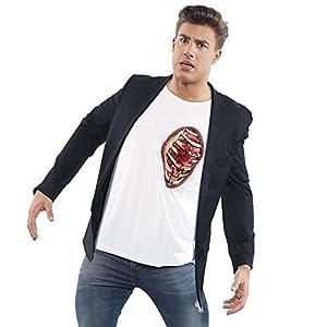 WIDMANN?Camiseta con jaula y corazón Mens pecho, blanco, XL, vd-wdm96587
