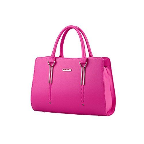 Xiaoxuan, Borsa a spalla donna Blu profondo Rosso/rosa