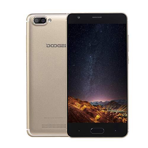 Smartphone in Offerta, DOOGEE X20 Telefonia Mobile, 3G Smartphone Android 7.0 (5.0 Pollici HD Schermo Quad core, 1GB RAM + 16GB ROM, 5.0MP Fotocamera Digitale, 2580mAh, Dual SIM) - GOLD