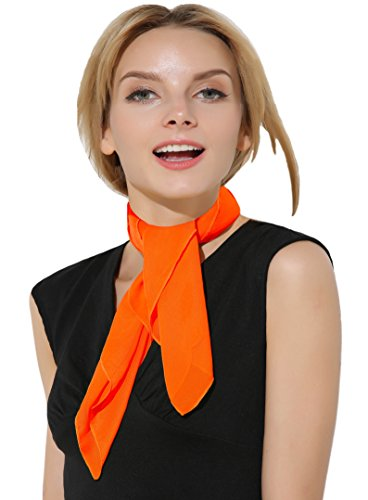 neval, Chiffonschal Fasching, Retro Vintage Schal Chiffon für Kostüm (Orange Und Gelb)