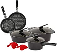 Happy Call 9pieces Cookware Set, Black
