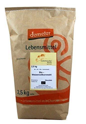 Mehl Backen Brot (Bio Weizenvollkornmehl 4x1 kg - Demeter Bio Weizenvollkornmehl)
