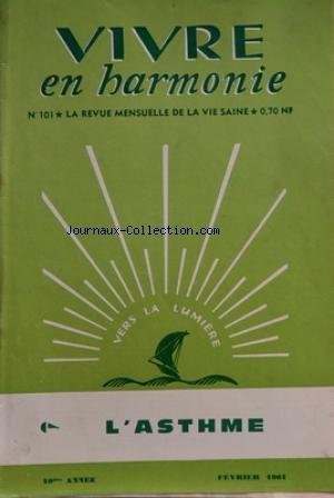 VIVRE EN HARMONIE [No 101] du 01/02/1961
