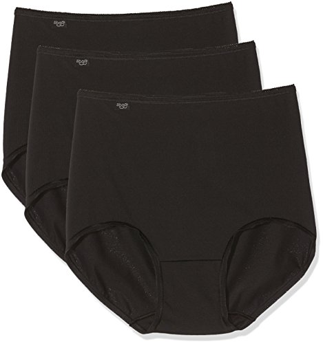 Sloggi 24/7 Microfibre H Maxi C3p, Bragas de Cintura Alta para Mujer, Negro (Noir), (Talla del Fabricante: EU 50 / FR 52)(Pack de 3)