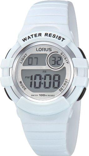 Lorus Watches Unisex Digital Quarz Uhr mit Kautschuk Armband R2383HX9 - Pulsar-kautschuk-armband-uhr
