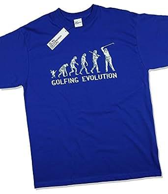 Golf Evolution - Cadeau d'anniversaire drôle / Présent T-Shirt Bleu royal S